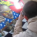 Richard photographing a mural