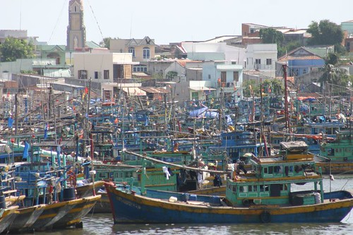 Fishing boats in Phan Thiet...