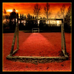 Play Like the Dickens (Olli Keklinen) Tags: red playground photoshop suomi finland square goal helsinki nikon 100v10f d200 dickens 2007 20070107 250v10f p1f1 ok6 ollik
