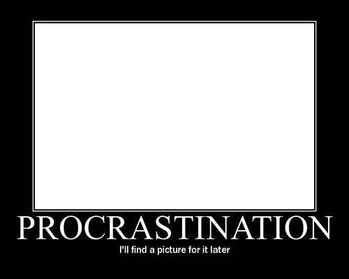 Procrastinar poster