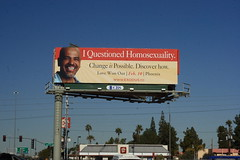 I Questioned Homosexuality??? (Daniel Greene) Tags: strange sign billboard exodus brainwashing exgay fundamentalism homosexuality antigay sensordust religiosity aversion lovewonout