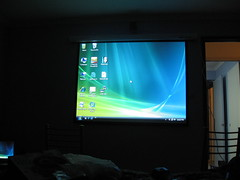New projection screen