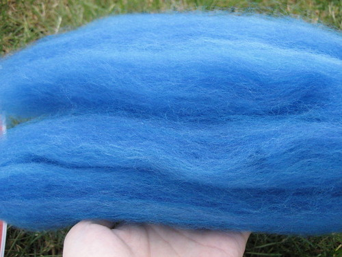 dyed merino, carded