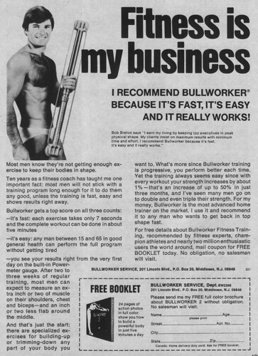 Vintage Ad #136 - Fitness is His Business
