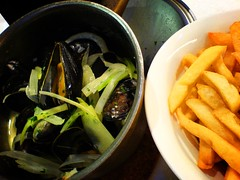 Mussel Pot at Brussel Sprouts