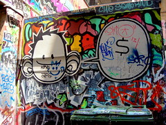 $ (sensesmaybenumbed) Tags: city streetart graffiti australia melbourne victoria centreplace