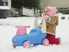 Miriam's First Snow - Scooting
