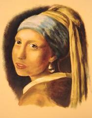 Naar Vermeer acryl 2007 (bazza-fastbeetle) Tags: art girl painting paint kunst earring schilderij delft vermeer johannes bas acryl amersfoort 2007 1664 bazza pearlearring