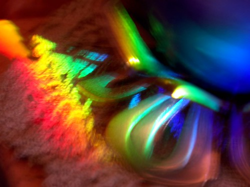 Moving colour light painting