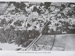 Harlow aerial view, 1930s (Eleventh Earl of Mar) Tags: uk greatbritain england aerialview gb essex oldharlow