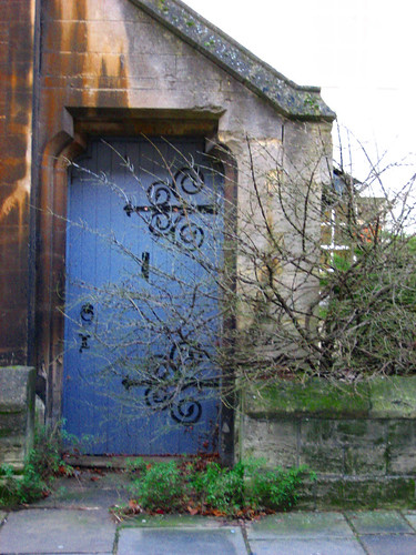 Ye old blue door