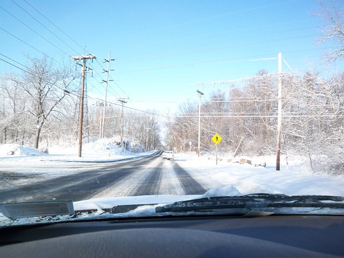 Winter's Drive: Across W. Henrietta and onto East River Rd