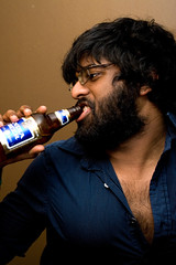 Rajiv drinking India Beer (grahamcase) Tags: man sexy drink chesthair brownsound indiabeer
