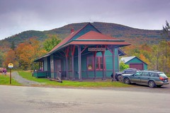 An 1800's era Train Station in the Catskills (Surfingjoe) Tags: autumn newyork fall landscape trainstation catskills colorphotoaward
