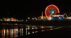 Santa Monica Pier (RichGreenePhotography.com) Tags: ocean california longexposure color night pacific ferriswheel santamonicapier richgreenephotography