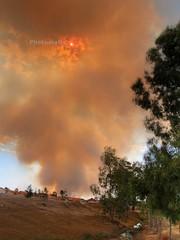 Fire's Smoke - HDR (AusAlive Photography) Tags: trees orange green fire bush smoke australia perth e300 westernaustralia hdr bushfire streem