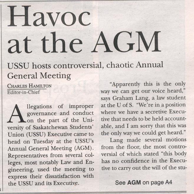 Havoc at AGM - Sheaf 1