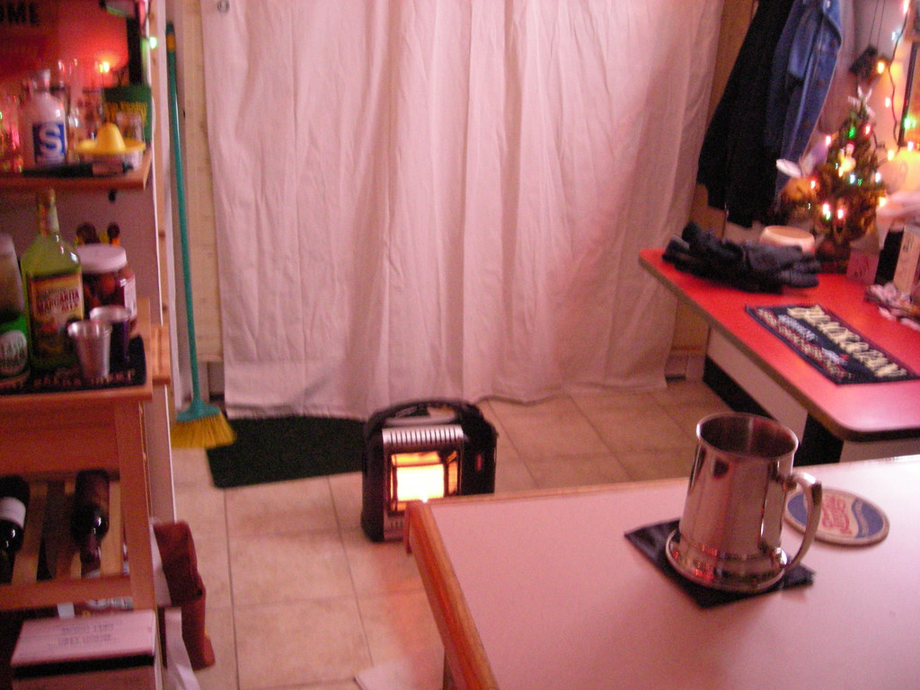 Propane heater in bar with no flash on Nikon CoolPix L