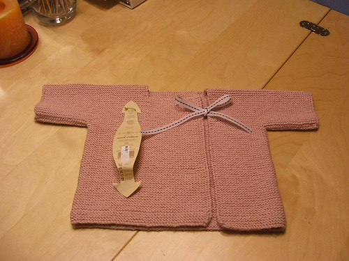 hanknit baby sweater