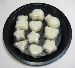 Freezing onigiri for bento lunches