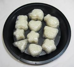 Freezing onigiri for bento lunches