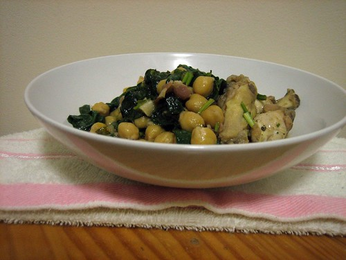 Chicken and Bacon with Chickpeas and Spinach – Writing ...
