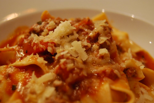 Venison Ragout with Papperdelle Pasta and Grana Padono