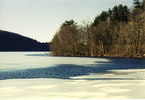 Spring thaw at Devil's Lake State Park, WI, 2002