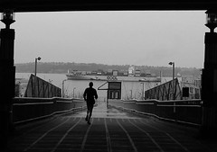 Runner on the Bridge