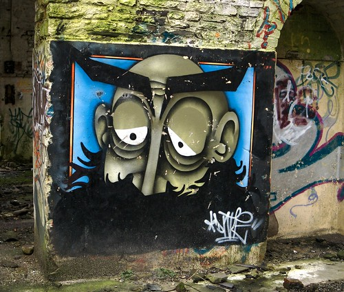 Graffiti Inside The Treforest Tin Works