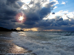 Shine on (esther**) Tags: ocean blue light sunset sea sun beach water clouds dark sand bravo mediterranean waves wind interestingness1 topf300 greece shore excellent splash topf150 topf100 rhodes topf200 iloveit topf350 welltaken thebestbravo specland beautifulcapture abigfave anawesomeshot grangrupo interetsingness1 granfoto frhwofavs