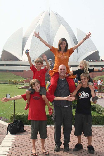 Andrus family at the lotus temple
