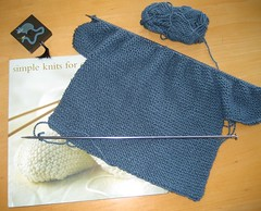 garter stitch baby cardigan (1 of 2), wip