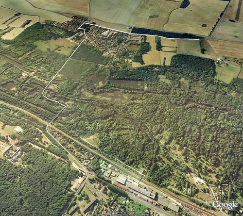 20070209 - balade vers les marais - Google Earth avec trajet