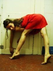 Untitled (melancholik) Tags: red rouge dance rojo ballerina legs bodylanguage carla