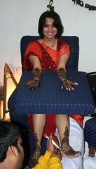 Mehendi for the bride