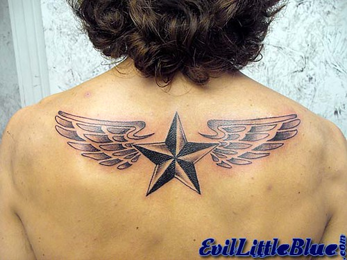 Winged Nautical Star The wings had a special meaning for him for something