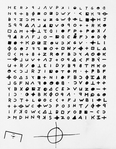Zodiac cryptogram