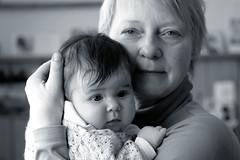 Love (gornabanja) Tags: grandma grandmother granddaughter grandchild baby infant family love portrait blackandwhite blackwhite nikon d70