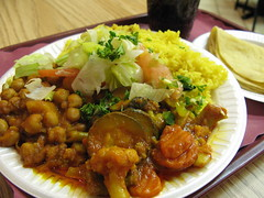 Indian Express, Chick Peas, Veggies, Rice and Chowpatti.jpg