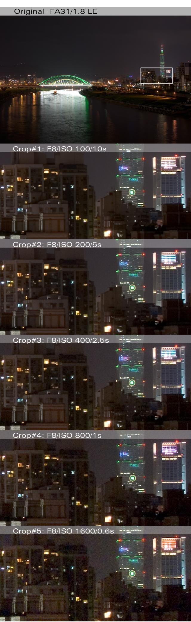 [測試] K10D 夜景ISO測試 w/FA 31/43/77
