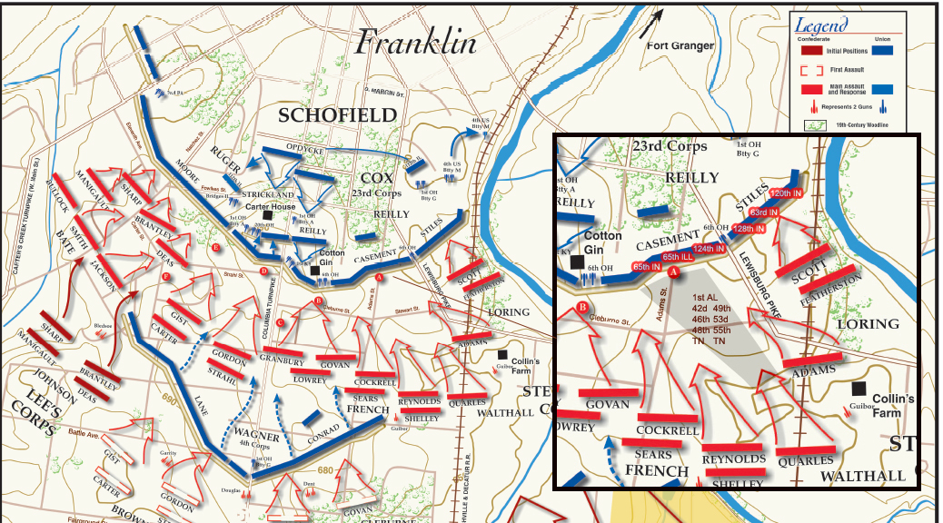 Map Page 3 The Battle Of Franklin November 30 1864