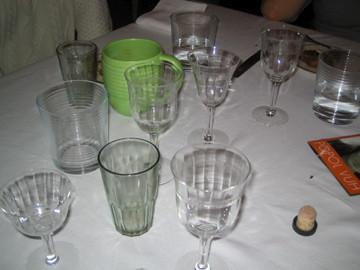 Glassware debris