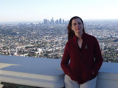 On the roof of the Griffith Observatory