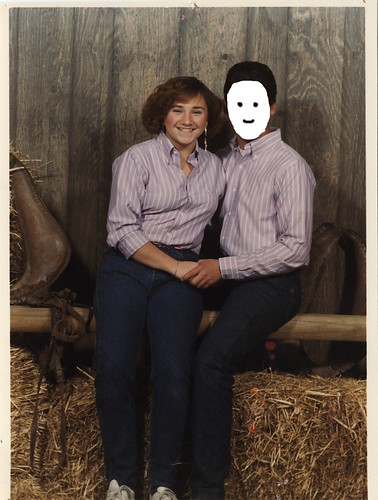 Me and my faceless date, circa 1984