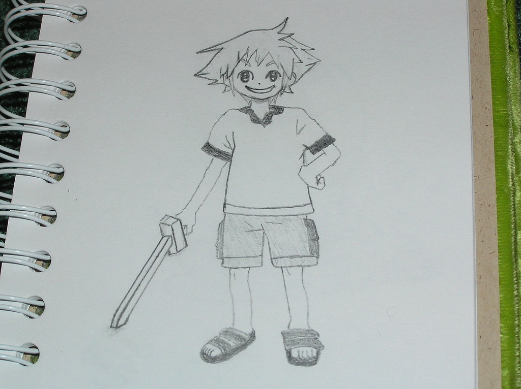Sora Kingdom Hearts Lineart : The world s best photos of drawing and sora flickr hive mind