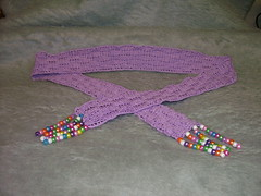 Beaded Basketweave Crocheted Belt