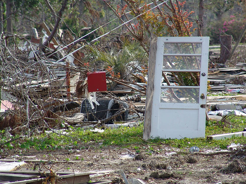 door standing after Katrina