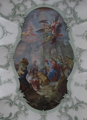 Fresco on the ceiling of St. Peters in Salzburg
