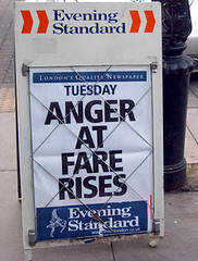 Anger at Fare Rises